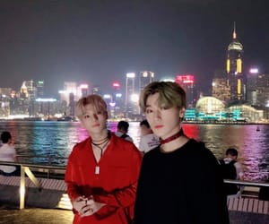 ateez, wooyoung, and san image