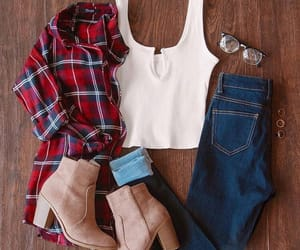 brown boots, cute, and fashion image