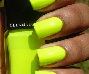 nails, neon, and yellow image