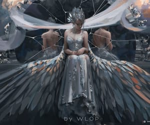 fantasy, princesse, and ailes image