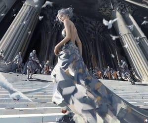 escalier, fantasy, and Temple image