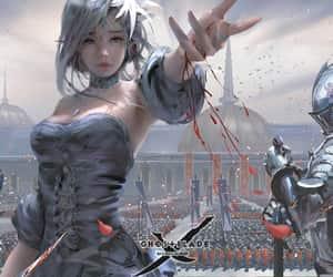 combat, fantasy, and elfe image