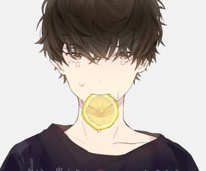 anime, brown hair, and crying image