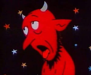 Devil, cartoon, and red image