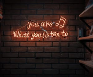 neon, music, and quotes image