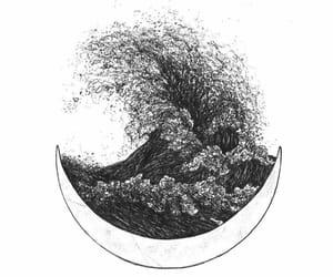 art, moon, and alternative image