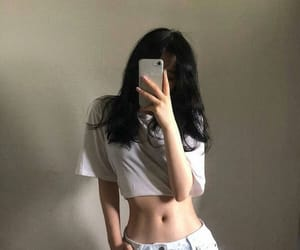 korean, abs, and asian image