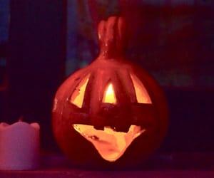 Halloween, night, and pumpkin image