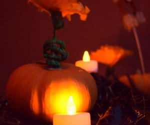 candle, Halloween, and night image