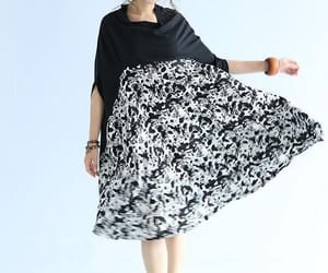black dress, floral dress, and cotton dress image