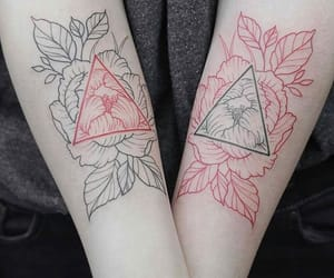 red, tattoo, and tatuagem image