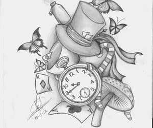 drawing, alice in wonderland, and alice image