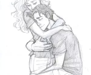 percabeth, drawing, and percy jackson image