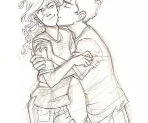 love, drawing, and kiss image