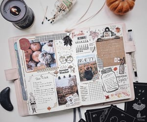 Halloween, inspiration, and journaling image