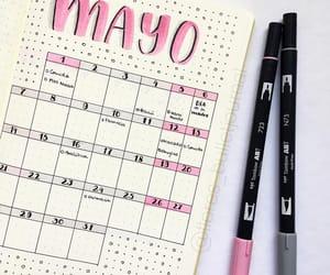brush pens, calendar, and inspiration image