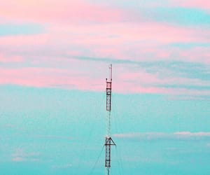 blue and pink, photography, and sky image