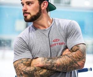 hockey, tattoo, and guy image