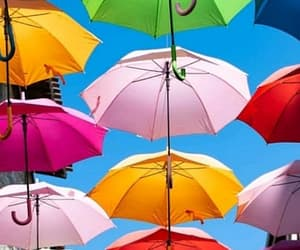 aesthetic, colors, and umbrella image