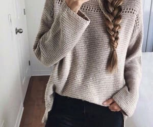 braid, cold, and sweater image