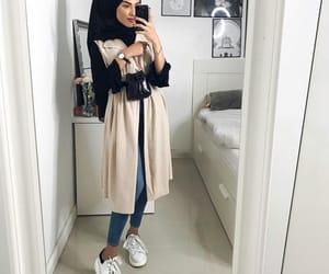 bedroom, fashion, and hijab image