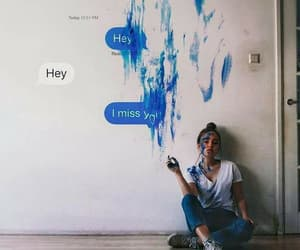 girl, art, and i miss you image