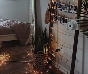 home, lights, and bedroom image