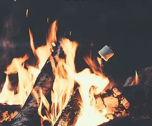 autumn, cold, and fire image