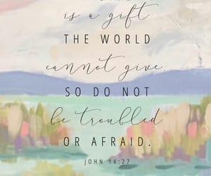 god, bible verse, and john 14:27 image
