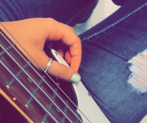 bass, jeans, and nails image