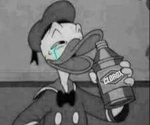 donald duck and sad image