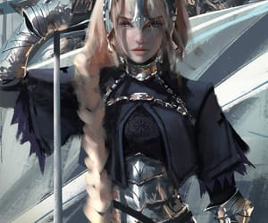 fantasy, elfe, and guerrière image