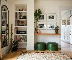 books, carpet, and corner image