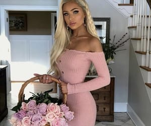 blonde, fashion, and pink image