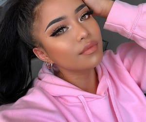 girl, makeup, and beautiful lady image