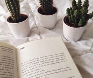 book, plants, and cactus image