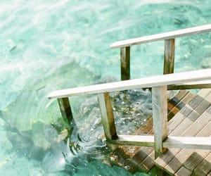 aqua, Maldives, and stairs image