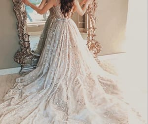 bride, dress, and bridal image