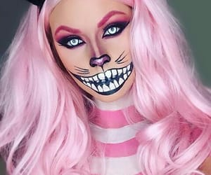 Halloween, pink, and cat image