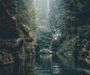 home, peaceful, and mountains image