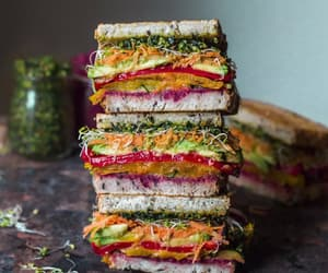 food, recipes, and sandwich image