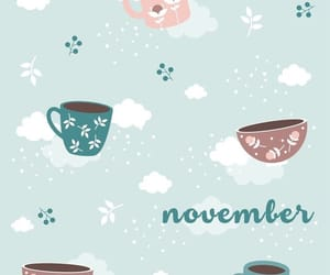 cups, lightblue, and november image