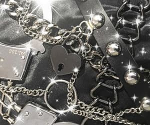 aesthetic, goth, and chains image