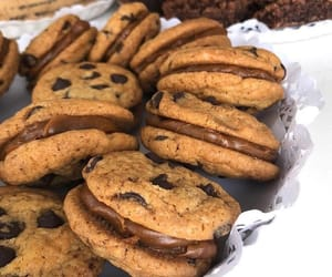 chocolate, yummy, and Cookies image