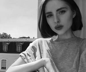 beauty, black and white, and girl image