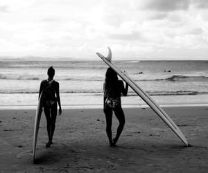 adventure, beach, and black&white image