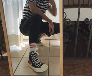 boy, converse, and commedesgarcons image