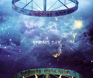 gif and bts spring day image