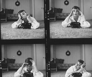 analog, audrey hepburn, and black and white image