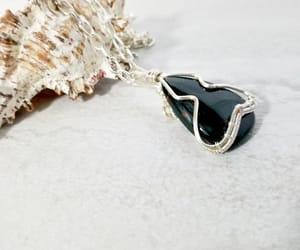 etsy, wire wrapped jewelry, and black onyx jewelry image